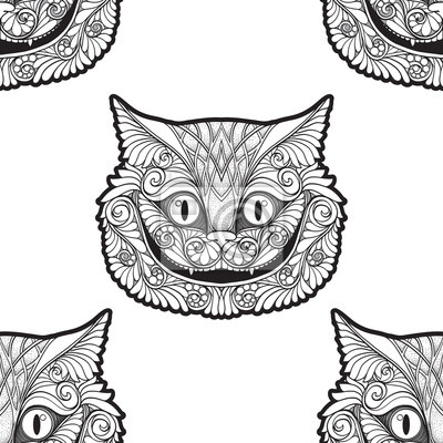 Kot Z Cheshire Z Bajki Alicja W Krainie Czarów Fototapeta