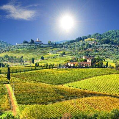 Fototapeta Krajobraz w regionie Chianti, Toskania, Włochy
