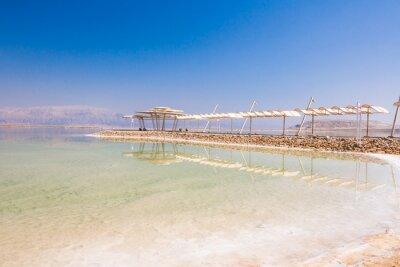 Fototapeta krajobraz wybrzeża Morza Martwego