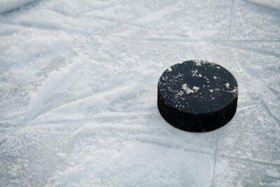 Fototapeta Krążek hokejowy hokeja na lodowisku