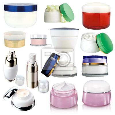 Krem Cosmetics - różne opakowania na białym