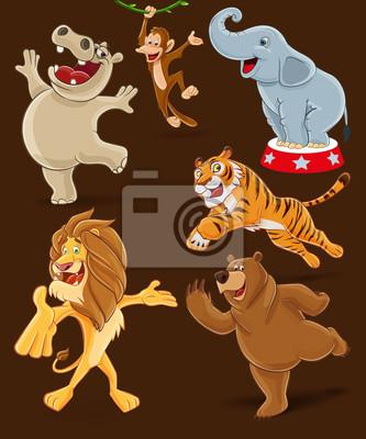 Fototapeta Kreskówki zwierząt