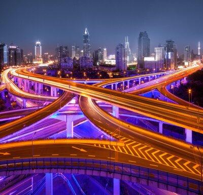 Fototapeta Kreuzung w Szanghaju