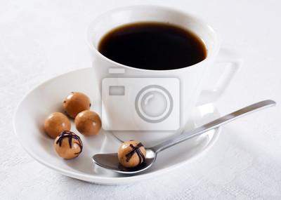 Fototapeta Krople kawa i czekolada
