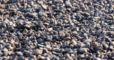 Fototapeta Kruszony kamień w drodze jako tło