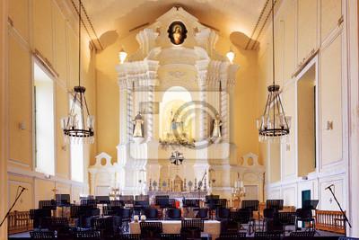 Fototapeta Krzesła dla muzyków orkiestrowych w wnętrza św Domini