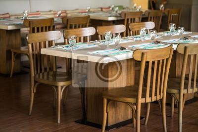 Fototapeta Krzesła I Lady Bar Z Kawą Stolik Do Siedzenia Stół Jadalny