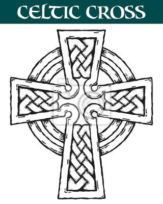 Fototapeta Krzyż Celtycki Grafika Wektorowa Ozdobny Krzyż Celtycki Do Użytku