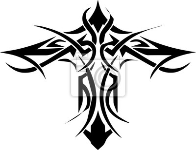Fototapeta Krzyż Celtycki Tatuaż