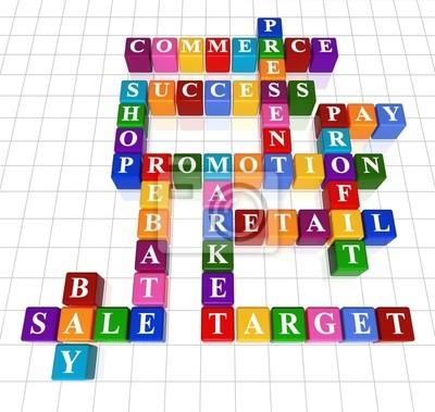 Fototapeta Krzyżówka 9 Sprzedaż Handel Promocja Zysk Sprzedaż Detaliczna