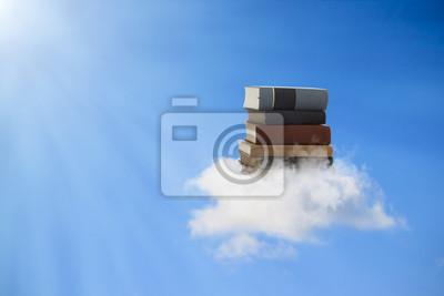 Fototapeta Książki Pływające na chmurze