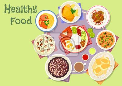 Fototapeta Kuchnia Azjatycka Ikonę Naczynia Do Projektowania Menu Na Lunch