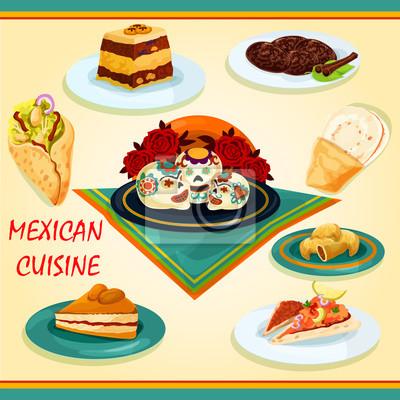 Fototapeta Kuchnia Meksykańska Kanapki I Desery Ikona