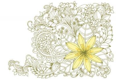 Fototapeta Kwiatowe doodles