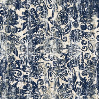 Fototapeta Kwiatowy akwarela tekstura powtórzyć nowoczesny wzór