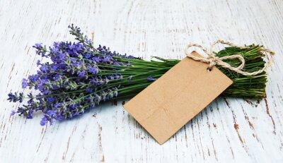 Fototapeta kwiaty lawendy z tagiem