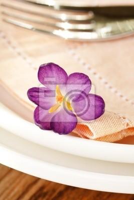 Fototapeta kwiaty na płycie