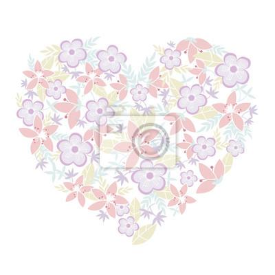 Fototapeta kwiaty pełne w sercu