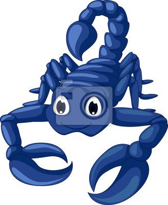 Fototapeta ładny niebieski cartoon scorpion