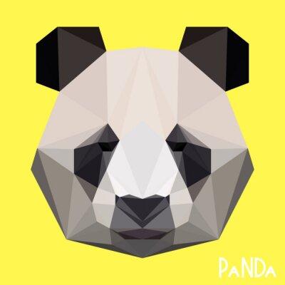Fototapeta Łamana geometryczne panda portret