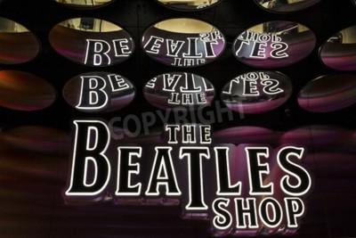 Fototapeta Las Vegas - ok. Grudnia 2016: sklep The Beatles w The Mirage. To jedyny sklep licencjonowany Beatlesów I