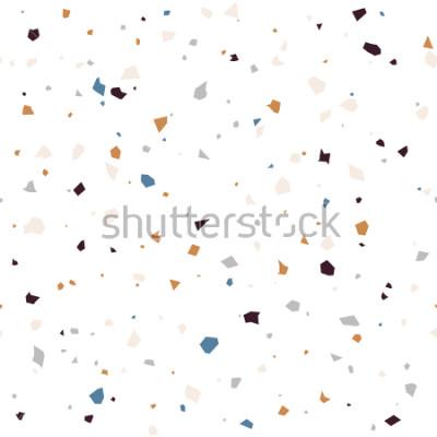 Fototapeta Lastryko podłoga textured nawierzchniowego nowożytnego abstrakta wzór. Wektorowa bezszwowa abstrakcjonistyczna powtórka z układami scalonymi marmur lub granit w miękkich pastelowych kolorach.