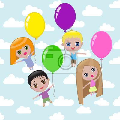 Fototapeta Latanie na balonach