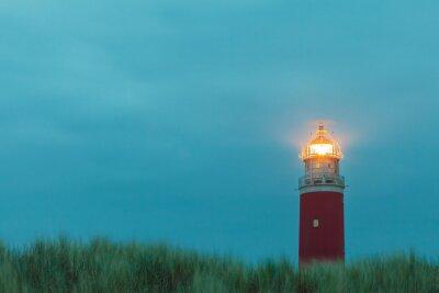 Fototapeta Latarnia morska na holenderskiej wyspie Texel