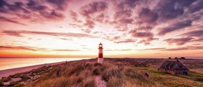 Fototapeta Latarnia morska Panorama Sylt