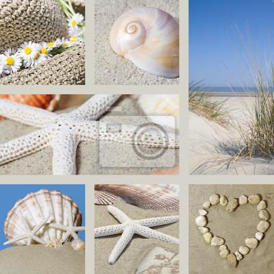 Fototapeta Lato na plaży Collage