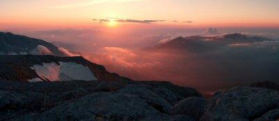 Fototapeta Lato w górach słońca