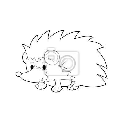 Latwe Kolorowanki Zwierzeta Dla Dzieci Hedgehog Fototapeta