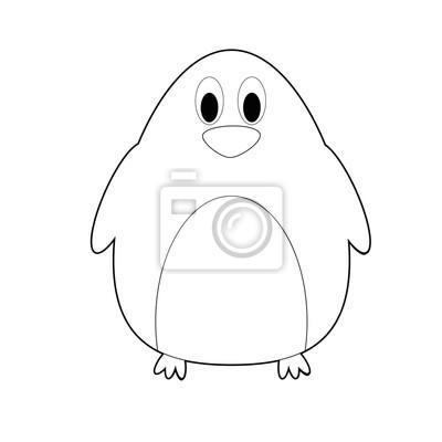 Latwe Kolorowanki Zwierzeta Dla Dzieci Pingwin Fototapeta