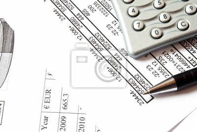 Fototapeta Liczenie i koncepcji finansów