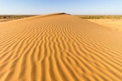 Fototapeta Linie piasku na wydmie na pustyni