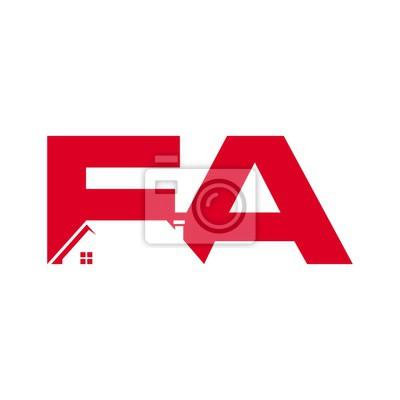 Litera F I Logo Wektora Szablon Logo Dachu Ikona I Symbol