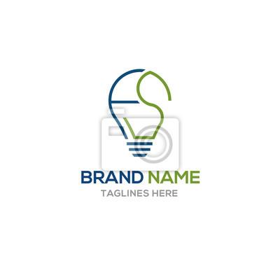 Litera F Logo Projekt Pomysł Szablon Ilustracji Wektorowych