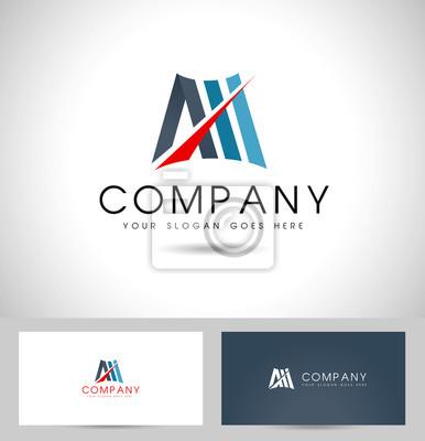Litera M Logo Design Kreatywne Abstrakcyjny Wektor Ikona Z Literą