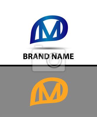 Litera M Logo Design Wektor Logo Z Literą E Koncepcji Kreatywnej