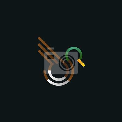 Logo Kaczki Ilustracji Wektorowych Linii Sztuki Ptak W Locie
