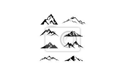 Fototapeta logo set mountain vector