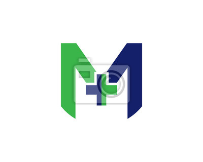 Logo Szpitala Z Literą M Fototapeta Fototapety Sztuka Kształtować