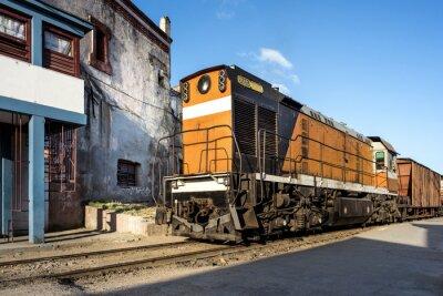 Fototapeta Lokomotywa im Bahnhof von Camagüey Kuba