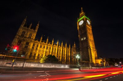 Fototapeta Londyn Big Ben w nocy