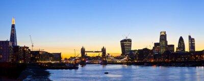Fototapeta Londyn Skyline Panoramiczny
