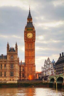 Fototapeta Londyn z Wieży Zegarowej i Houses of Parliament