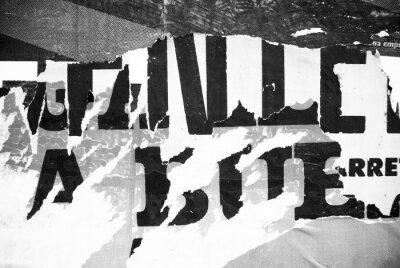 Fototapeta Losowe typografii kolaż papieru tekstury na ścianie