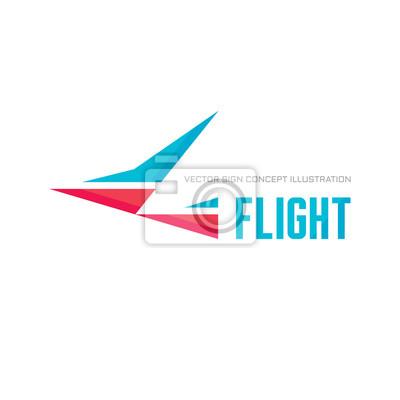 Lot Wektor Ilustracja Pojęcia Streszczenie Ptak Szablon Logo
