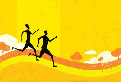 Fototapeta Ludzie jogging