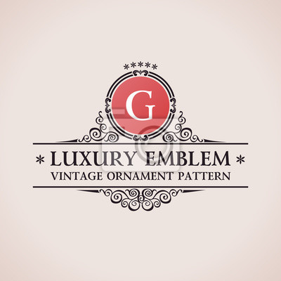 Fototapeta Luksusowe logo. Elegancki wzór kaligraficzne elementy wystroju wektor